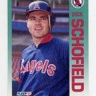 1992 Fleer Baseball #069 Dick Schofield - California Angels