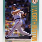 1992 Fleer Baseball #031 Craig Worthington - Baltimore Orioles