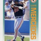 1992 Fleer Baseball #016 Luis Mercedes - Baltimore Orioles