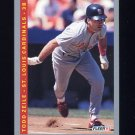 1993 Fleer Baseball #136 Todd Zeile - St. Louis Cardinals