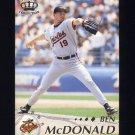 1995 Pacific Baseball #024 Ben McDonald - Baltimore Orioles