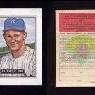 1989 Bowman Baseball Reprint Inserts #03 Whitey Ford 51 - New York Yankees
