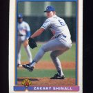 1991 Bowman Baseball #612 Zakary Shinall RC - Los Angeles Dodgers