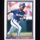 1991 Bowman Baseball #557 Eric Yelding - Houston Astros
