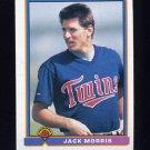 1991 Bowman Baseball #319 Jack Morris - Minnesota Twins