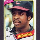 1980 Topps Baseball #511 Eric Wilkins RC - Cleveland Indians
