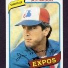 1980 Topps Baseball #497 Jim Mason - Montreal Expos Vg