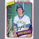 1980 Topps Baseball #448 Jim Wohlford - Milwaukee Brewers