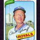 1980 Topps Baseball #409 Paul Splittorff - Kansas City Royals