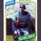 1980 Topps Baseball #351 Bob Davis - Toronto Blue Jays