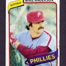 1980 Topps Baseball #317 Mike Anderson - Philadelphia Phillies