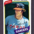 1980 Topps Baseball #313 Johnny Grubb - Texas Rangers