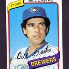 1980 Topps Baseball #303 Bill Castro - Milwaukee Brewers