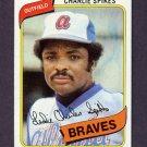 1980 Topps Baseball #294 Charlie Spikes - Atlanta Braves