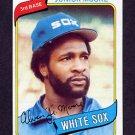 1980 Topps Baseball #186 Junior Moore - Chicago White Sox