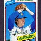 1980 Topps Baseball #166 Glenn Abbott - Seattle Mariners