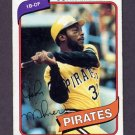 1980 Topps Baseball #071 John Milner - Pittsburgh Pirates Vg