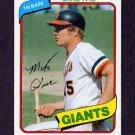 1980 Topps Baseball #062 Mike Ivie - San Francisco Giants