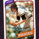 1980 Topps Baseball #028 Bruce Kison - Pittsburgh Pirates Vg