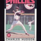 1986 Topps Baseball #792 Charles Hudson - Philadelphia Phillies