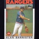 1986 Topps Baseball #784 Alan Bannister - Texas Rangers