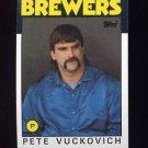 1986 Topps Baseball #737 Pete Vuckovich - Milwaukee Brewers