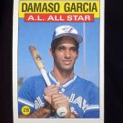 1986 Topps Baseball #713 Damaso Garcia AS - Toronto Blue Jays