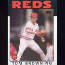 1986 Topps Baseball #652 Tom Browning - Cincinnati Reds