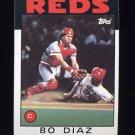 1986 Topps Baseball #639 Bo Diaz - Cincinnati Reds