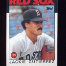 1986 Topps Baseball #633 Jackie Gutierrez - Boston Red Sox