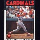 1986 Topps Baseball #631 Steve Braun - St. Louis Cardinals