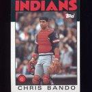 1986 Topps Baseball #594 Chris Bando - Cleveland Indians