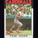 1986 Topps Baseball #550 Tom Herr - St. Louis Cardinals