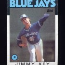 1986 Topps Baseball #545 Jimmy Key - Toronto Blue Jays