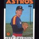 1986 Topps Baseball #534 Jeff Calhoun - Houston Astros