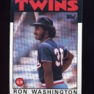 1986 Topps Baseball #513 Ron Washington - Minnesota Twins