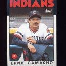1986 Topps Baseball #509 Ernie Camacho - Cleveland Indians