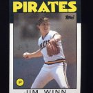 1986 Topps Baseball #489 Jim Winn - Pittsburgh Pirates