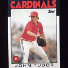 1986 Topps Baseball #474 John Tudor - St. Louis Cardinals