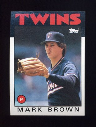 1986 Topps Baseball #451 Mark Brown - Minnesota Twins