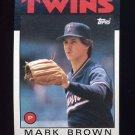 1986 Topps Baseball #451 Mark Brown - Minnesota Twins