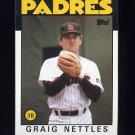 1986 Topps Baseball #450 Graig Nettles - San Diego Padres