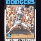 1986 Topps Baseball #439 Rick Honeycutt - Los Angeles Dodgers