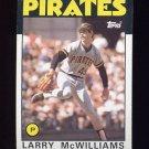 1986 Topps Baseball #425 Larry McWilliams - Pittsburgh Pirates