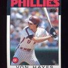 1986 Topps Baseball #420 Von Hayes - Philadelphia Phillies