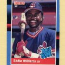 1988 Donruss Baseball #046 Eddie Williams RC - Cleveland Indians NM-M