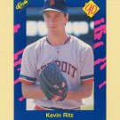 1990 Classic Blue Baseball #131 Kevin Ritz - Detroit Tigers