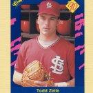 1990 Classic Blue Baseball #090 Todd Zeile - St. Louis Cardinals