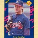 1990 Classic Blue Baseball #015 Kent Mercker - Atlanta Braves