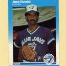 1987 Fleer Update Glossy Baseball #093 Jose Nunez - Toronto Blue Jays